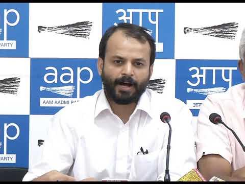 AAP Senior Leader addressed Presser on Attack on AAP Punjab MLA Amarjit Sandoa.