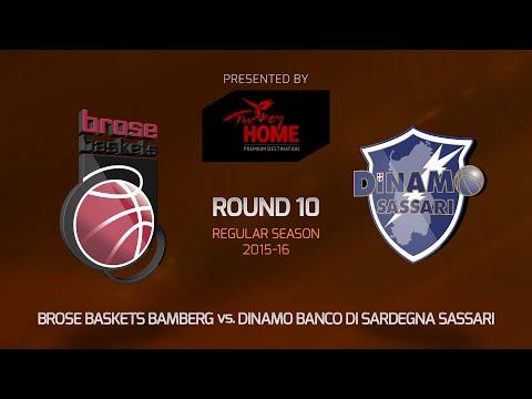 Highlights: RS Round 10, Brose Baskets Bamberg 86-54 Dinamo Sassari