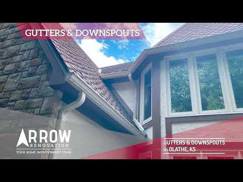 Olathe, KS Home Gets New Gutters, Diverters & Downspouts