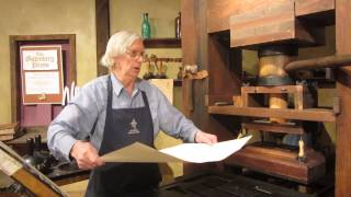 How a Gutenberg printing press works