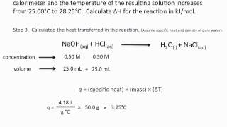 Using Calorimetry To Calculate Enthalpies Of Reaction - Chemistry Tutorial