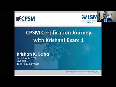 CPSM CERTIFICATION JOURNEY WITH KRISHAN! (Exam 1 ...