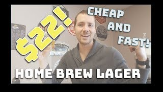 How To Brew Beer Cheap And Fast! $22 Homebrew Light Lager In Under 2 Hours - Bud Light Clone