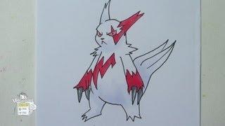 How to draw Pokemon: No. 335 Zangoose