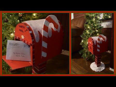buzón para cartas a Santa🎄santa mailbox kids santa letters💌 diy
