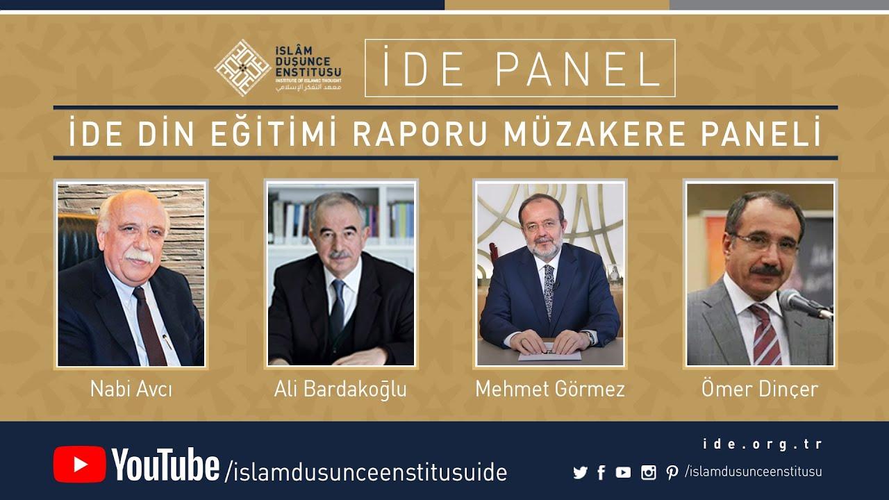 İDE Panel I İDE Din Eğitimi Raporu Müzakere Paneli