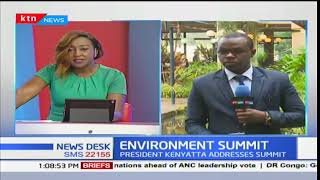 President Uhuru attends the ongoing global environmental conference in Gigiri