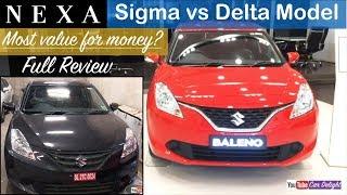 Maruti Baleno Sigma vs Delta Model Interior and Exterior Review