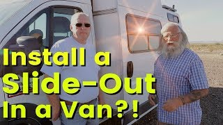 Extremely advanced Home-Built Van Camper--including a Slide-Out