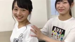 NMB48山本彩加&梅山恋和SHOWROOM20170724