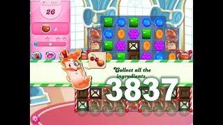 Candy Crush Saga Level 3837 (3 stars, No boosters)
