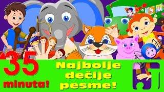 Najbolje dečije pesme - Razbole se lisica, Pet malih majmuna, Kad si srećan i druge | Pesme za decu