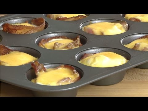 Video Breakfast Recipes - Ham and Cheese Egg Cups
