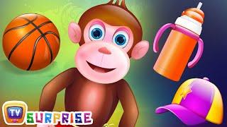 Surprise Eggs Nursery Rhymes Toys   Five Little Monkeys   Learn Colours & Objects   ChuChu TV