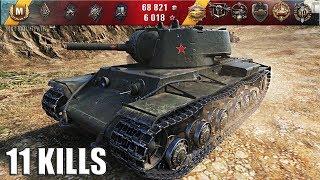 КВ-1 с фугасницей 11 фрагов, карта: Эль Халлуф 🌟 World of Tanks лучший бой на тт СССР КВ-1 wot
