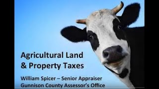 Agricultural Land and Property Taxes