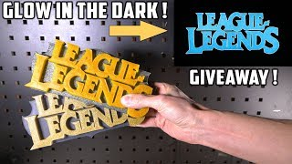 Casting 2 Glowing League Of Legends Logo's with Epoxy Resin - Video Youtube
