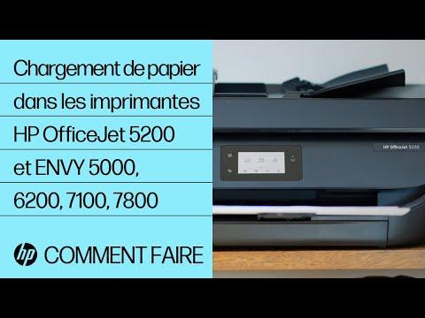 Chargement de papier dans les imprimantes des gammes HP OfficeJet 5200 et ENVY 5000, 6200, 7100, 7800