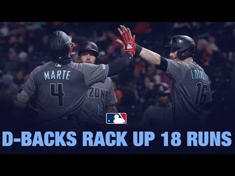 D-backs tally 18 runs