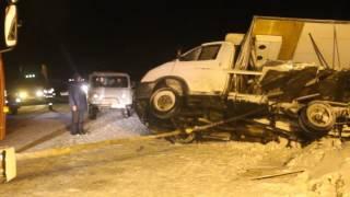 Аварийно-спасательные работы МЧС на месте страшного ДТП на Чуйском тракте