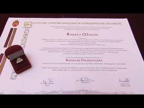 Budavár Díszpolgára kitüntető cím átadása - video preview image