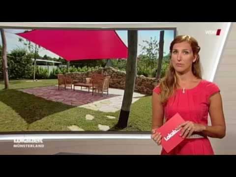 WDR: Sonnensegel in aufrollbar oder eine klassische Markise als Sonnenschutz für die Terrasse