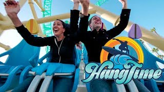 Riding HangTime! AWESOME New Roller Coaster at Knott