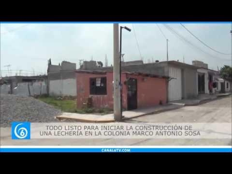 En próximos días se iniciarán los trabajos de construcción de lechería colonia de Chalco