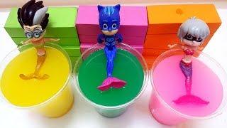 PJ Masks transform into Mermaid PJ Masks - Learn Colors Coca Cola Bottles Toys