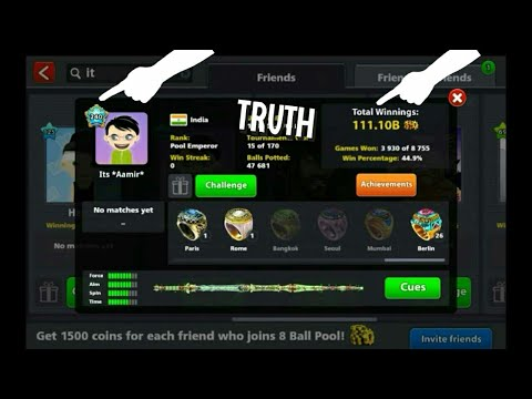 8 Ball Pool | It's Aamir Unique ID + Cues + Achievements 😂 😨