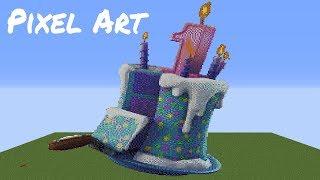 minecraft pixel art timelapse fortnite - TH-Clip