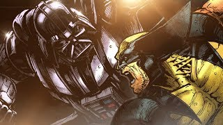 WOLVERINE VS DARTH VADER - HOW TO DRAW A FIGHT SCENE!