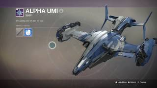 Destiny 2 How to get ALPHA UMI Ship