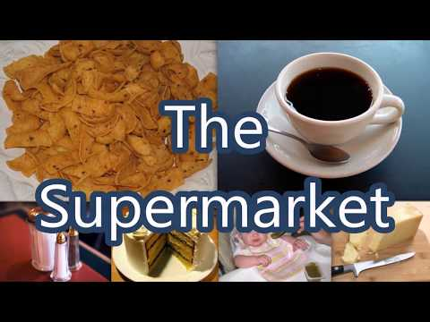 List of Supermarket Items - Things Usually Sold in Supermarket - Learn Easy English Words