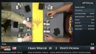 Pro Tour Dragon's Maze Finals: Dusty Ochoa vs. Craig Wescoe