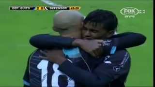 preview picture of video 'Deportivo Quito 2 - 0 Defensor Sporting Copa Libertadores 2012'