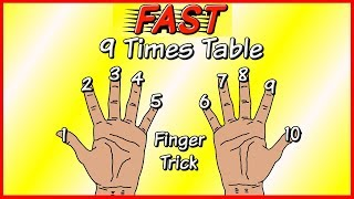 Learn the 9 times table EASILY and FAST using your FINGERS!!!
