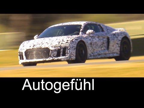 All-new 2016 Audi R8 prototype test rides on racetrack – Autogefuhl