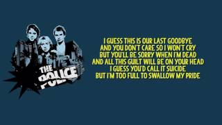 The Police   Can't Stand Losing You + Lyrics (Best Audio)