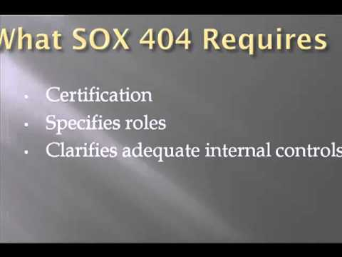 Requirements of SOX Section 404 - YouTube