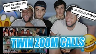 REACTING TO DOLAN TWINS GOT EVERY IDENTICAL TWIN ON THE INTERNET IN ONE ZOOM CALL | Coastal Bustas