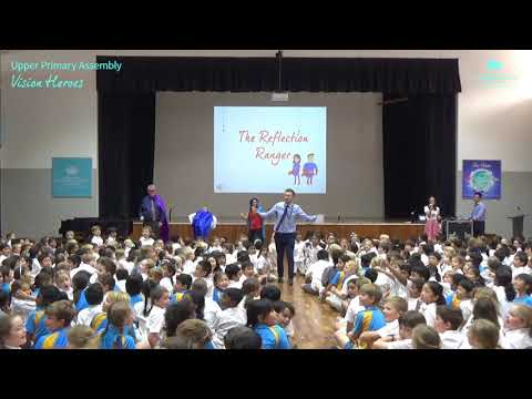 Vision Heroes at Upper Primary Assembly