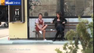 Лиа Мишель, Lea Michele smokes as she films a scene for Sons Of Anarchy
