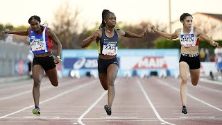 Albi 2020 : Finale 100 m F (Carolle Zahi en 11''28)