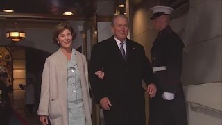 43rd President George Bush arrives at Donald Trump's inauguration