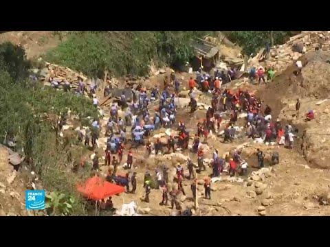 العرب اليوم - شاهد: بحث مضنٍ في الفيليبين عن ضحايا انهيار أرضي جراء الإعصار