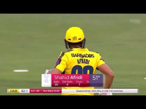 Afridi 100 off 42 balls in Natwest T20 blast- county