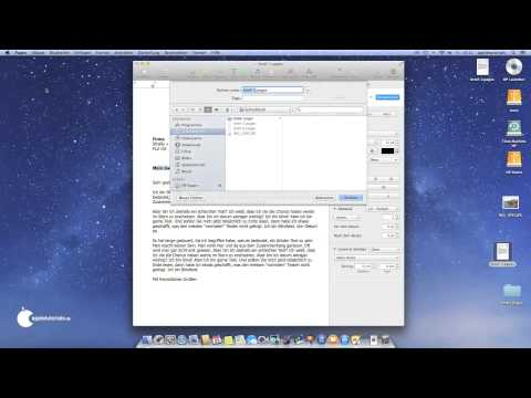 Speichern unter am Mac