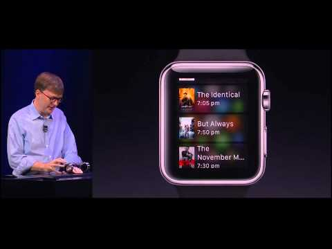  Apple Watch demo by Kevin Lynch