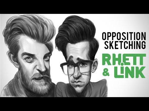 Rhett and Link - Opposition Sketching